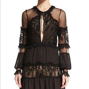 For Love & Lemons Alexa Lace Mini Dress Size XS